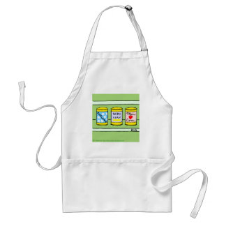 New Parents Mom Dad and Baby Funny Cartoon Adult Apron
