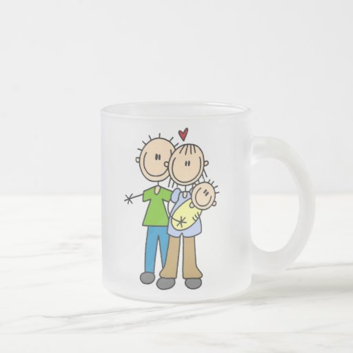 New Parents New Baby T-shirts and Gifts 10 Oz Frosted Glass Coffee Mug