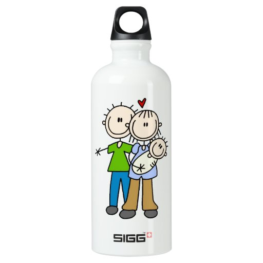 New Parents New Baby T-shirts and SIGG Traveler 0.6L Water Bottle