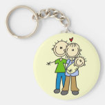 New Parents with Baby Tshirts and Gifts Keychains