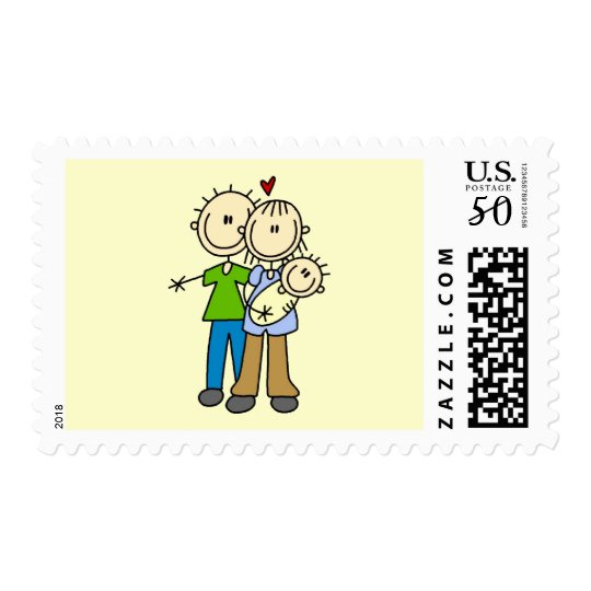New Parents with Baby Tshirts and Gifts Postage