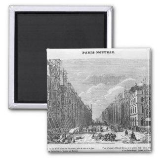 New Paris, view of a part of Rivoli street Magnet