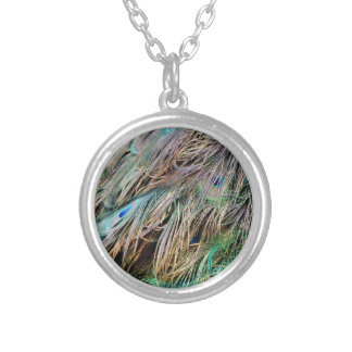 New Peacock Feathers Nice Spread Silver Plated Necklace