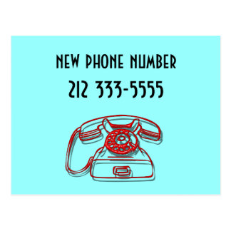 new phone number postcard