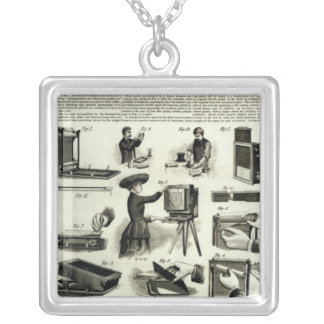 New photographic apparatus silver plated necklace