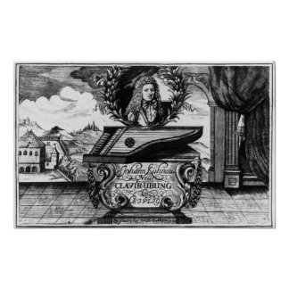 New Piano Practise, 1689 Poster