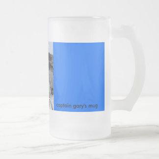 new pics 056, captain gary's mug, sea fisher 16 oz frosted glass beer mug