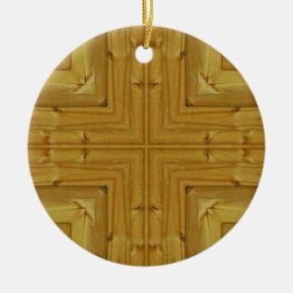 New Pine Fence Kaleidoscope Ceramic Ornament