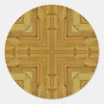 New Pine Fence Kaleidoscope Stickers