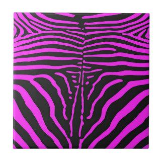 New Pink Black Zebra Print accessories - customise Tile