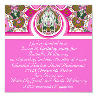 New Pink Sweet 16 Personalized Party Invitations