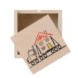 new place wooden keepsake box