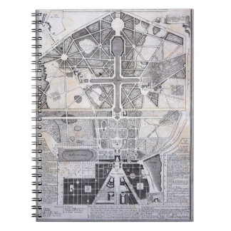 New Plan of the Town, Castle and Gardens at Versai Notebook