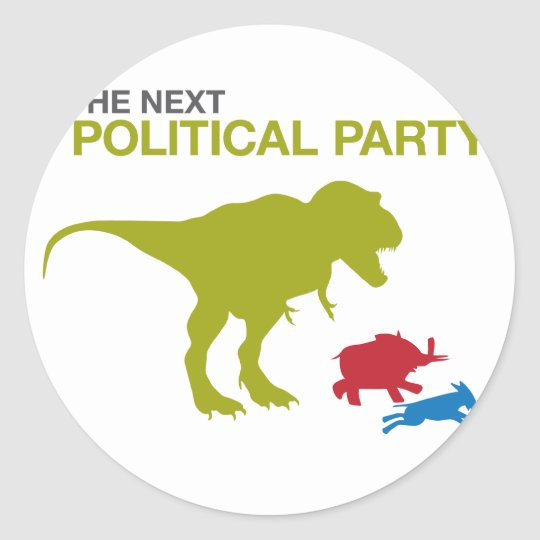 New Political Party Classic Round Sticker