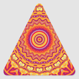 New Pop Art Priscilla Kaleidoscope Triangle Sticker