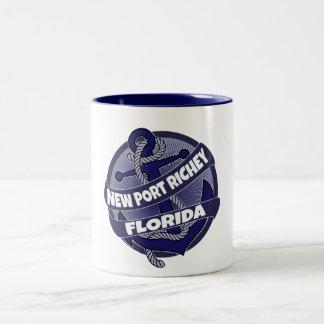 New Port Richey Florida anchor swirl coffee mug