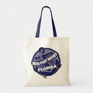 New Port Richey Florida anchor swirl tote bag
