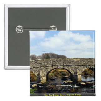New Post Bridge Devon England Europe Pinback Button