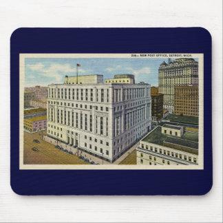 New Post Office Detroit, Michigan - Vintage Mousepads