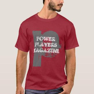 NEW POWER PLAYERS MAGAZINE T SHIRT MAROON
