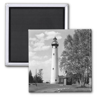 New Presque Isle Lighthouse 2 Inch Square Magnet
