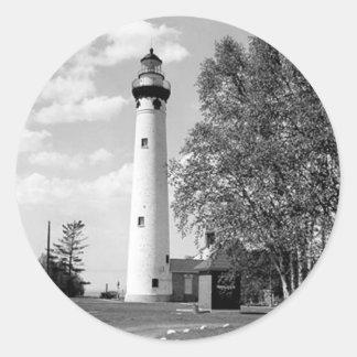 New Presque Isle Lighthouse Classic Round Sticker