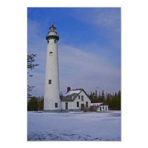 New Presque Isle Lighthouse Poster