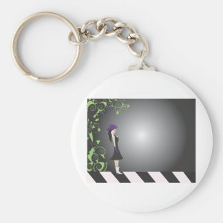 New Products Basic Round Button Keychain