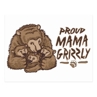 New Proud Mama Grizzly Postcard