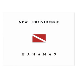 New Providence Bahamas Scuba Dive Flag Postcard
