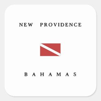 New Providence Bahamas Scuba Dive Flag Sticker