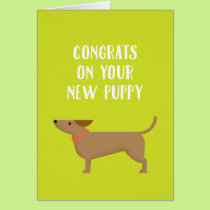 New Puppy Congrats Greeting Card