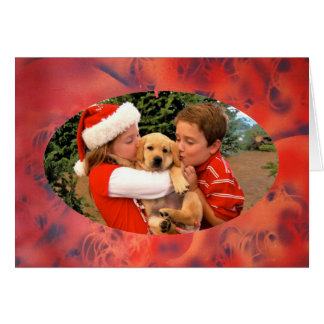 New Puppy Love at Christmas - Personalizable Greeting Cards