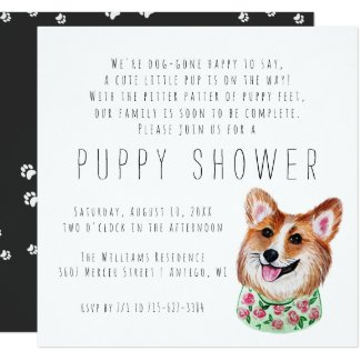 New Puppy | Puppy Shower Invitation