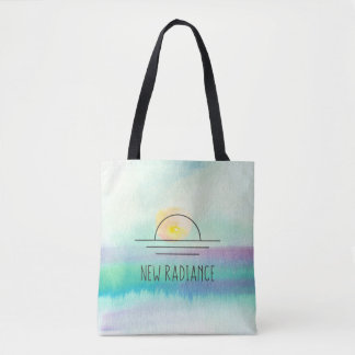 New Radiance Watercolor Corporate Logo Tote Bag