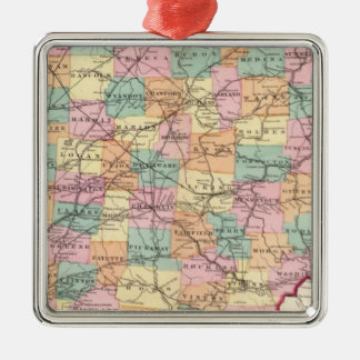 New rail road map of the State of Ohio Metal Ornament
