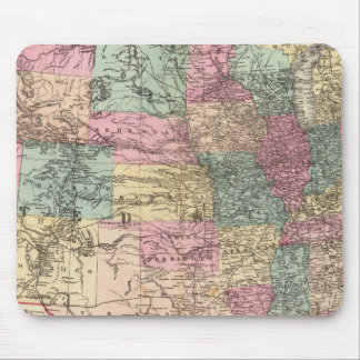 New rail road map of the United States Mouse Pad