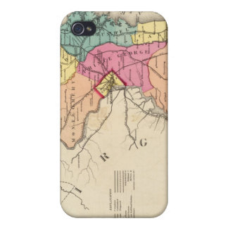 New railroad map of the states of Maryland iPhone 4 Cover
