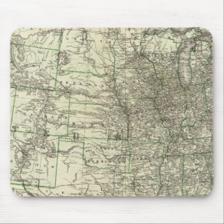 New railroad map of the United States 2 Mouse Pad