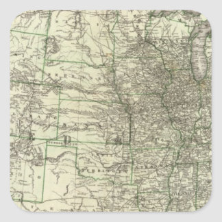 New railroad map of the United States 2 Stickers
