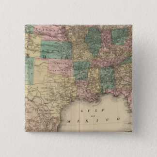 New railroad map of the United States 3 Pinback Button