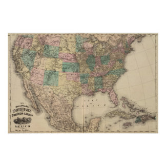 New railroad map of the United States 3 Print
