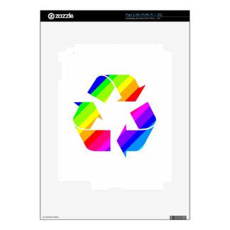 New Rainbow Recycle iPad 2 Decal