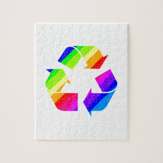 New Rainbow Recycle Jigsaw Puzzle