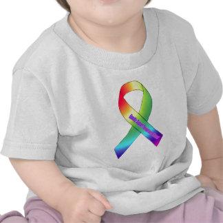 new rainbow ribbon.PNGBros T-shirt
