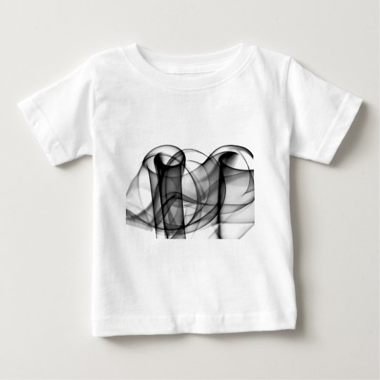 New Rainbow Waves Collection - Black & White Wave Baby T-Shirt