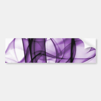 New Rainbow Waves Collection - Purple Wave Bumper Sticker
