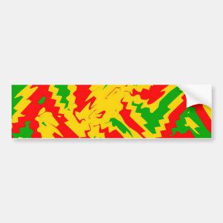 New Rasta Design Bumper Sticker