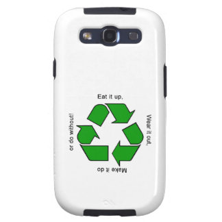 New Recycle Motto Samsung Galaxy SIII Covers
