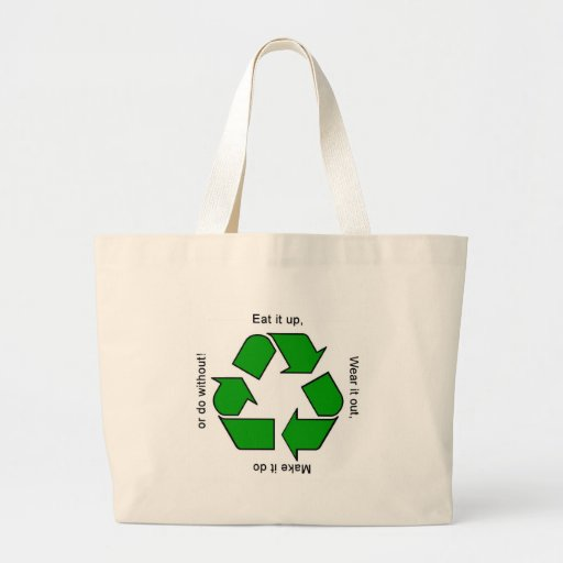 New Recycle Motto Products Canvas Bag